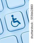 Small photo of Web accessibility online internet website design computer people disabilities keyboard