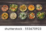 vegan or vegetarian restaurant... | Shutterstock . vector #553670923