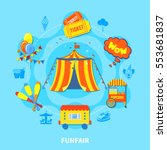 circus potential layout with... | Shutterstock .eps vector #553681837