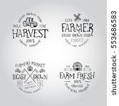 set of badge for farmers market ... | Shutterstock .eps vector #553686583