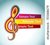 vector music note design... | Shutterstock .eps vector #55368679