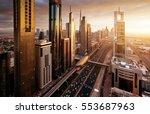 Dubai Skyline Sunset Time United - Fine Art prints