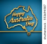 australia day   26 january  ... | Shutterstock .eps vector #553694587
