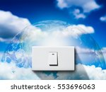 turn off to save energy. white... | Shutterstock . vector #553696063