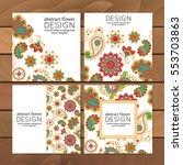vector set of business cards ... | Shutterstock .eps vector #553703863