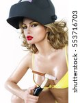 sexy looking attractive woman... | Shutterstock . vector #553716703