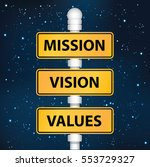 mission vision and value...   Shutterstock .eps vector #553729327