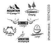camping badges set | Shutterstock .eps vector #553742233