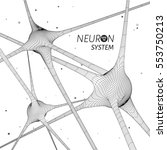 3d neuron system model. vector...