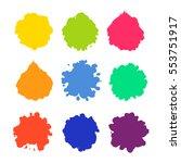 vector set of grunge rainbow... | Shutterstock .eps vector #553751917