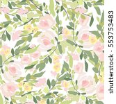 flowers pattern | Shutterstock . vector #553753483