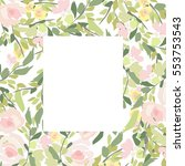 flowers pattern | Shutterstock .eps vector #553753543