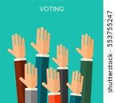 election voting vector... | Shutterstock .eps vector #553755247