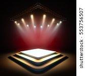 mock up of blank template... | Shutterstock . vector #553756507