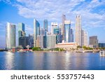skyline of singapore by the... | Shutterstock . vector #553757443