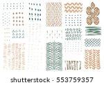 vector hand drawn textures....   Shutterstock .eps vector #553759357