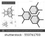 molecular structure vector line