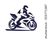 motorcycle racer sport | Shutterstock .eps vector #553771387