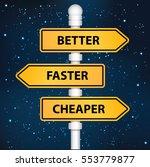 better signpost design clean... | Shutterstock .eps vector #553779877