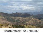 the landscape of the simien... | Shutterstock . vector #553781887