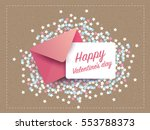 love letter invitation card... | Shutterstock .eps vector #553788373