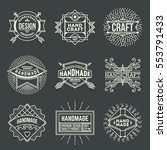 handmade craft insignias... | Shutterstock .eps vector #553791433