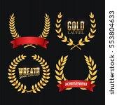 laurel wreath. golden detailed... | Shutterstock .eps vector #553804633