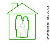 family in the house illustration | Shutterstock . vector #55380715
