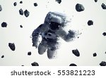astronaut in outer space modern ...   Shutterstock . vector #553821223