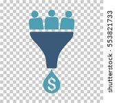 sales funnel icon. vector... | Shutterstock .eps vector #553821733