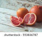 Grapefruit With Slices On A...
