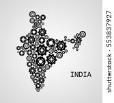 abstract map of india | Shutterstock .eps vector #553837927