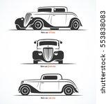 set of hot rod or vintage... | Shutterstock .eps vector #553838083