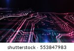 technology background red and... | Shutterstock . vector #553847983