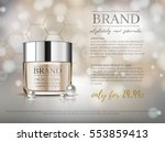premium vip cosmetic ads ... | Shutterstock .eps vector #553859413