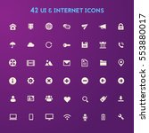 big ui and internet icon set | Shutterstock .eps vector #553880017