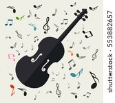 violins with notes vector music ... | Shutterstock .eps vector #553882657