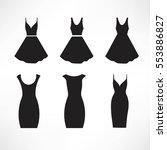 vintage dresses silhouette... | Shutterstock .eps vector #553886827