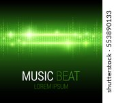 music beat. green lights... | Shutterstock .eps vector #553890133