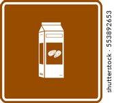 almond milk bottle sign | Shutterstock .eps vector #553892653