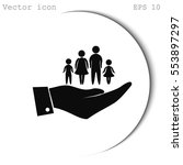 hand and family icon | Shutterstock .eps vector #553897297