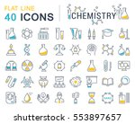set vector line icons  sign and ... | Shutterstock .eps vector #553897657