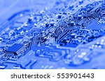 electronic circuit board close... | Shutterstock . vector #553901443