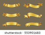 set of gold ribbons.golden... | Shutterstock .eps vector #553901683