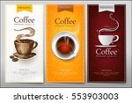 set creative menus for hot... | Shutterstock .eps vector #553903003