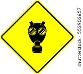 wwii military gas mask sign | Shutterstock .eps vector #553903657
