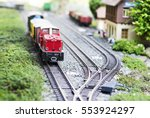 set of red electric model... | Shutterstock . vector #553924297