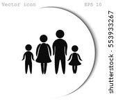 family vector icon | Shutterstock .eps vector #553933267