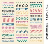 collection of hand drawn... | Shutterstock .eps vector #553937713