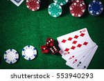 poker chips in casino gamble...